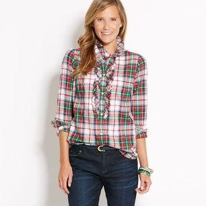 Vineyard Vines Mistletoe Plaid Flannel Shirt